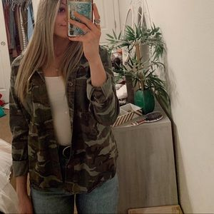 Camo Forever 21 button up jacket